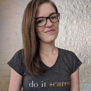 Cheri wearing do it scared shirt