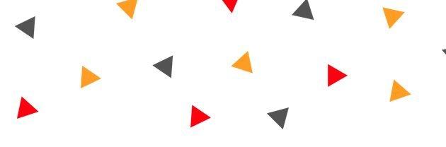 red, orange, gray triangle confetti banner